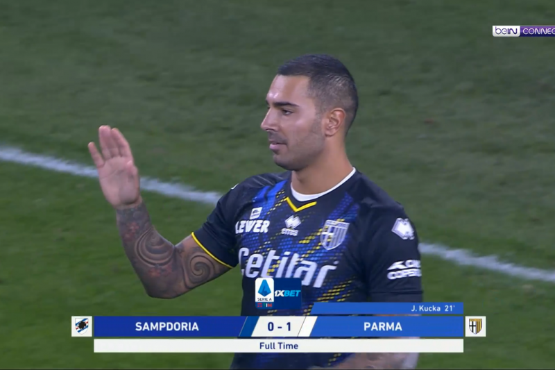 Sampdoria-Parma 0-1, tabellino, classifica, video ed interviste