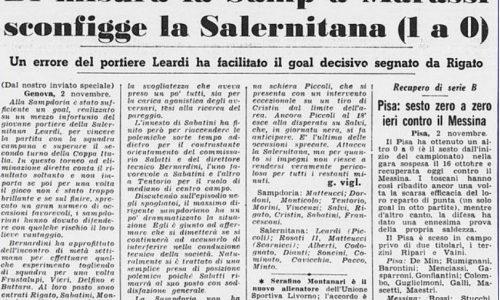 Coppa Italia 1966/67: Sampdoria-Salernitana 1-0