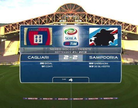Serie 2013/14: Cagliari-Sampdoria 2-2