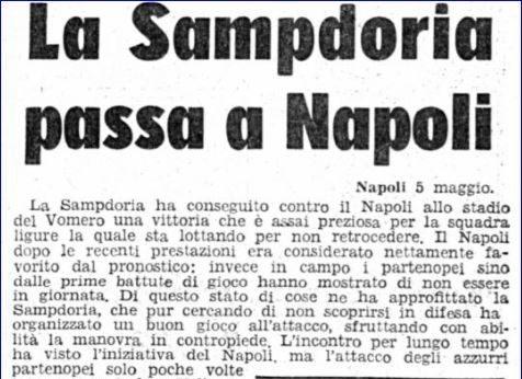 Serie A 1957/58: Napoli-Sampdoria 0-1
