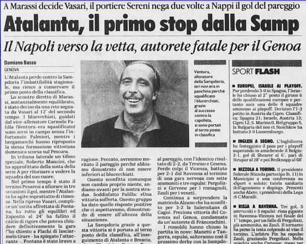 Serie B 1999/00: Sampdoria-Atalanta 1-0