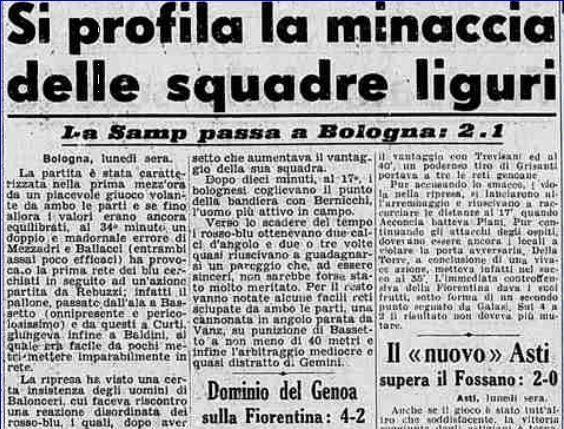 Serie A 1948/49: Bologna-Sampdoria 1-2